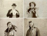 Sepia Steampunk Polaroids by Jessica Hibbard