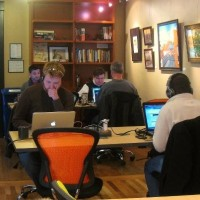 Coworking provides a friendly work environment with other professionals.